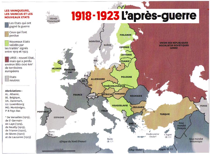 Carte Allemagne Apres Guerre.Wwi